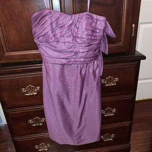 Never worn, purple, BCBG Strapless Dress
